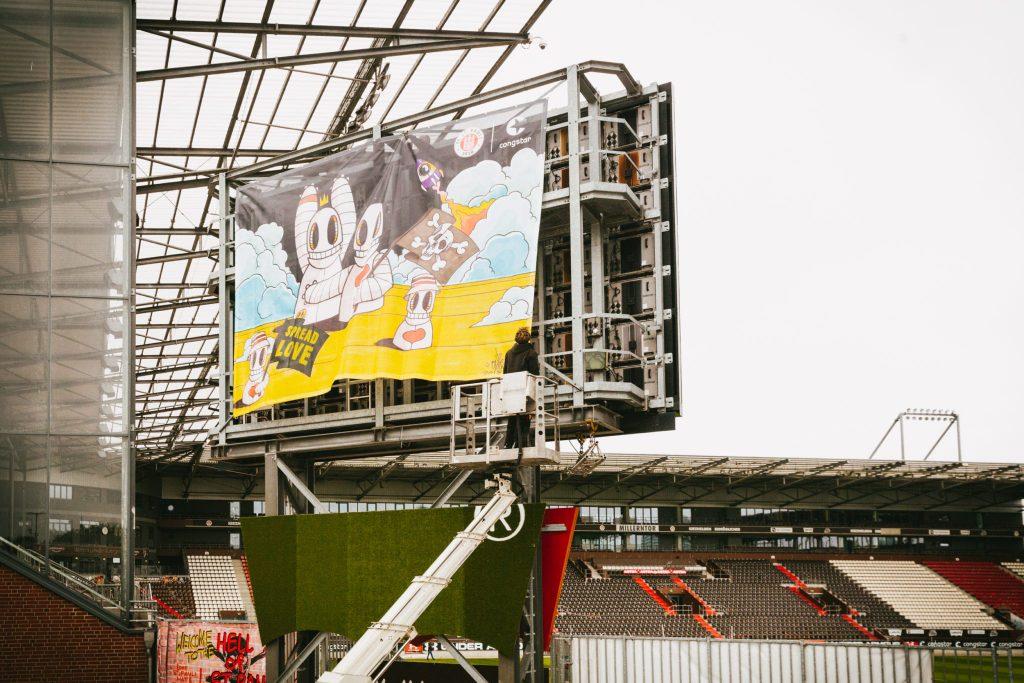 Oibel Art Banner Millerntor FC St.Pauli